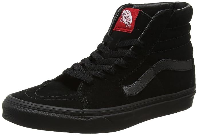 Vans Unisex-Erwachsene Sk8-hi Classic Suede/Canvas Sneaker Komplett Schwarz Größe EU 39