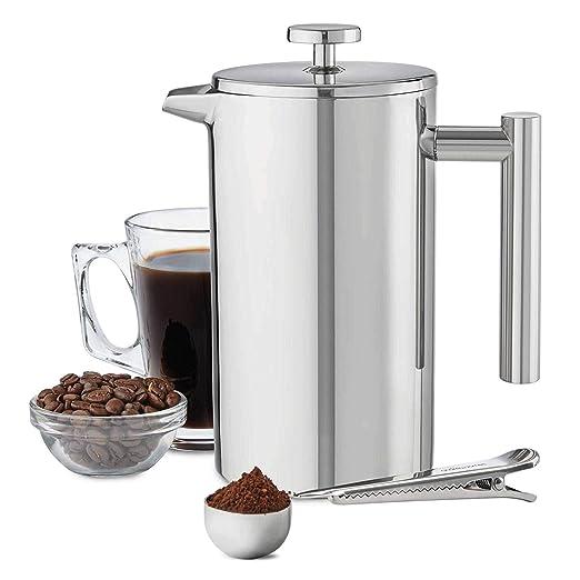 MMPY Cafetera Doble de Acero Inoxidable, 1000 ml 6 Tazas ...