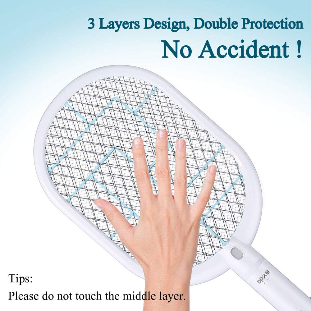 Large Electric Bug Zapper Best for Indoor and Outdoor Pest Control USB Mosquito Insect Fly Killer with Bright LED Light ONLYTEK Fly Swatter