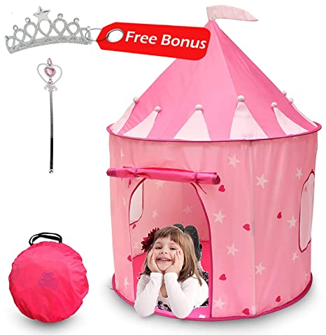 Kiddey Princess Castle Play Tent (Pink) - with Glow in The Dark Stars u2013  sc 1 st  Amazon.com & Amazon.com: Kiddey Princess Castle Play Tent (Pink) - with Glow in ...