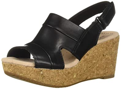 bc8957d28f0 Amazon.com  CLARKS Women s Annadel Ivory Wedge Sandal  Shoes