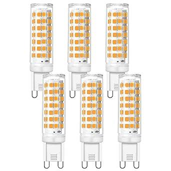 Luma - Bombillas LED G9 regulables, luz blanca cálida 3000 K, 6