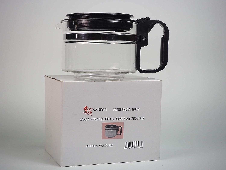 Sanfor Jarra universal de vidrio para cafetera eléctrica | Pequeña ...