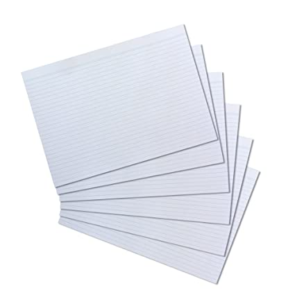 Karteikarten blanko DIN A4 100 St Weiß