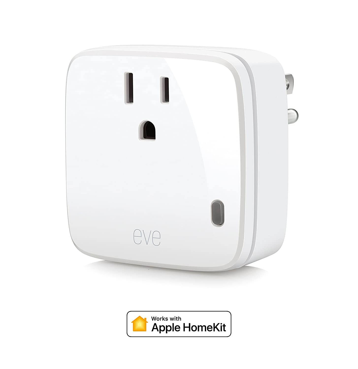 Eve 10027813 Smart Plug Power Meter Switch A Connected Device On How Window Works And Off Voice Control Bluetooth Low Energy White Apple Homekit