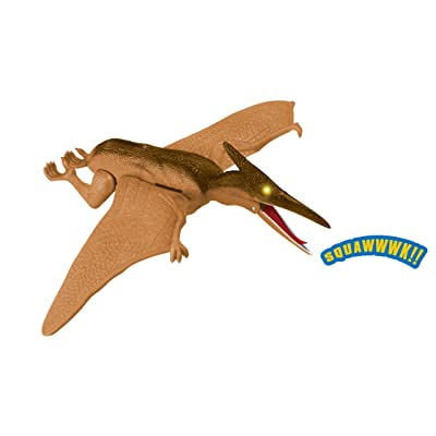 Dino World Battery Operated Pterodactyl Dinosaur Action Figure Toy with Light Up Eyes and Sounds