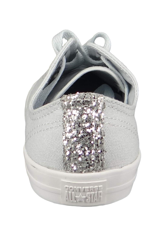 1e8cdadae12698 Converse Chucks 562476C White Chuck Taylor All Star Dainty OX Satin Pure  Platinum Silver White