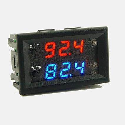Lorenlli DC12V 20A Controlador de Temperatura Digital DIY Inteligente Mini Termostato Regulador Impermeable Sensor 0.1 Celsius
