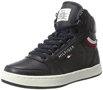 Tommy Hilfiger H3285oxton Jr 4a, Sneakers Basses Mixte Enfant, Bleu (Midnight), 30 EU