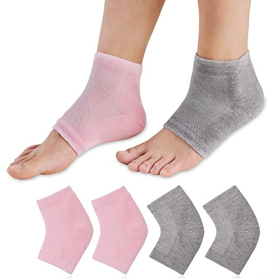 QQI Calcetines Hidratantes Gel Heel Toe Pies Abiertos Cuidados Set Ultimate Tratamiento para la piel seca