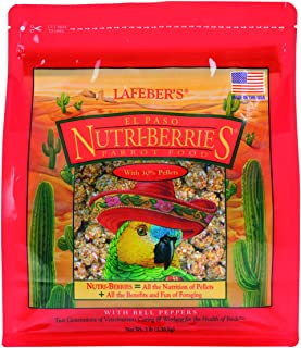 product image for LAFEBER'S El Paso Nutri-Berries Pet Bird Food, Made with Non-GMO and Human-Grade Ingredients, for Parrots