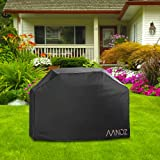 AANDZ Barbecue Cover, Bbq Grill Cover Heavy Duty Waterproof 210D Oxford Fabric Extra Large 170cm (Black)