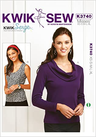 Kwik Sew Women/'s Blouse Sizes XS to XL