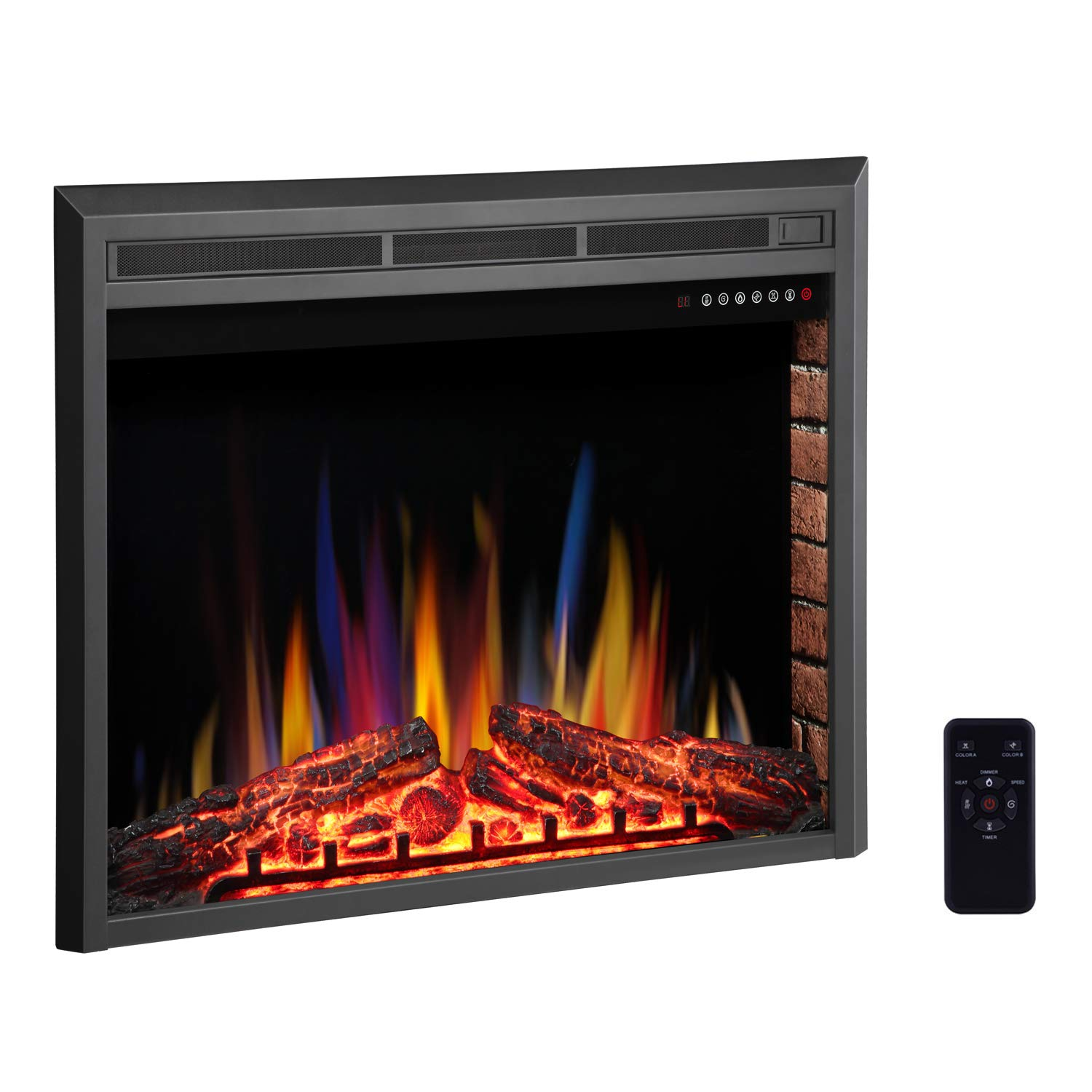 amazon com r w flame 36 electric fireplace insert freestanding rh amazon com 36 x 24 electric fireplace insert 36 electric fireplace insert with blower