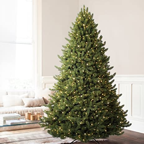 balsam hill vermont white spruce premium prelit artificial christmas tree 9 feet clear lights - White Spruce Christmas Tree