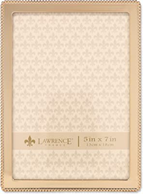 ea34112c7c3 Lawrence Frames 8x10 Simply Gold Metal Picture Frame 670080 Xmas