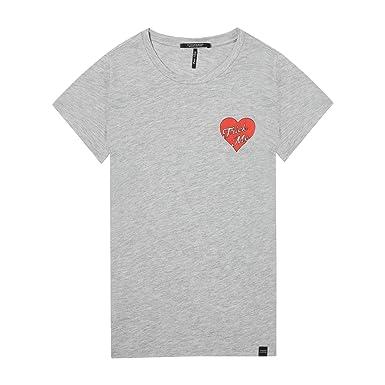 185aa8e660e7 Maison Scotch Damen T-Shirt Crew Neck Tee 143730  Amazon.de  Bekleidung