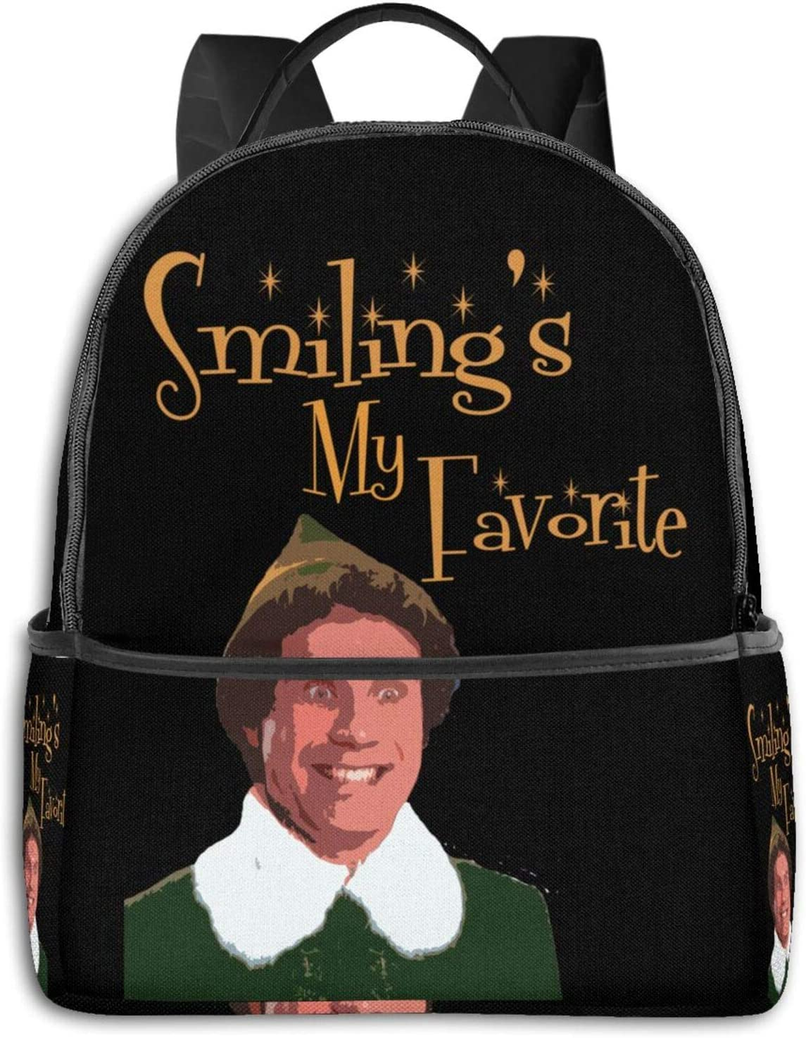 Buddy The Elf - Smiling My Favorite Pullover Hoodie Student School Bag School Cycling Leisure Travel Camping Outdoor Backpack