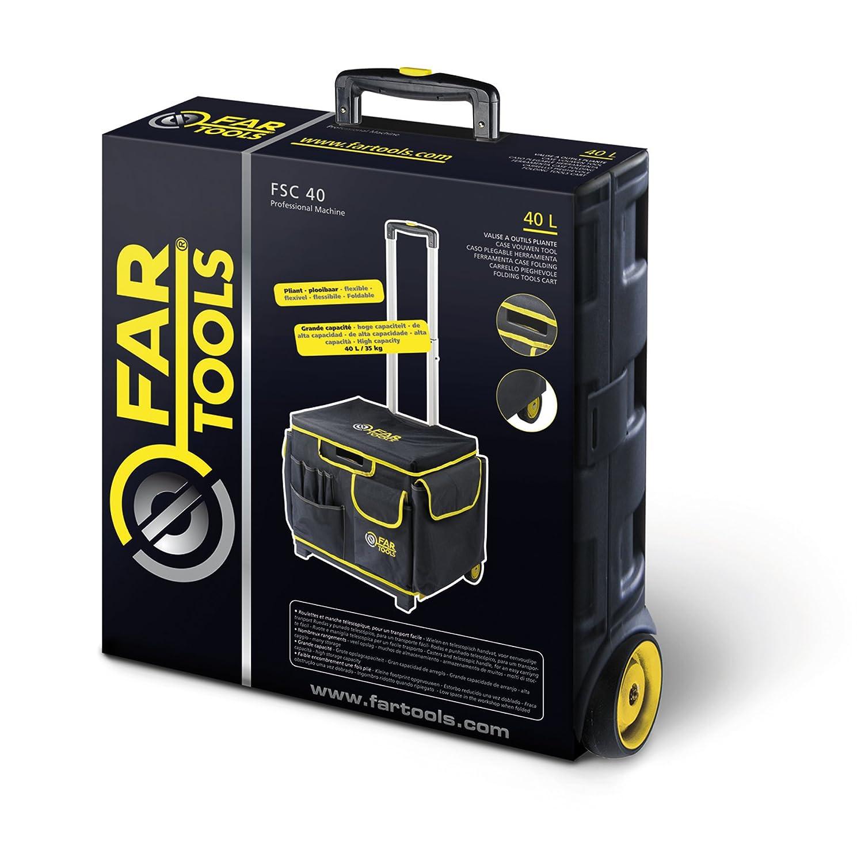 Fartools FSC 40 - Maletín de transporte (con ruedas y plegable): Amazon.es: Bricolaje y herramientas