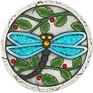 Summerfield Terrace 10018534 Blue Dragonfly Garden Stepping Stone, Multicolor
