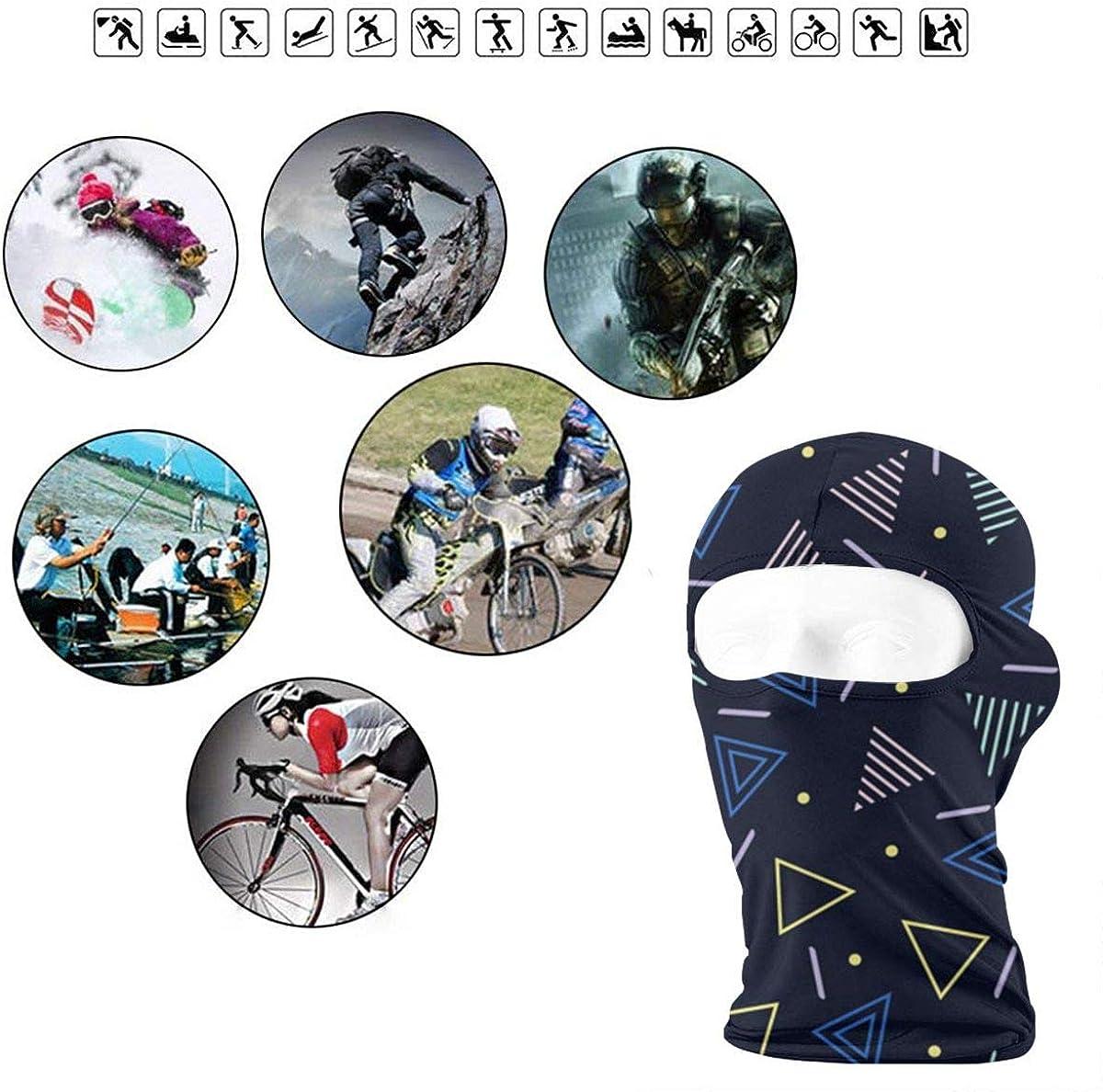 CAClifestyle Abstract Geometric Patterns Unisex Windproof Balaclavas Full Face Mask Hood