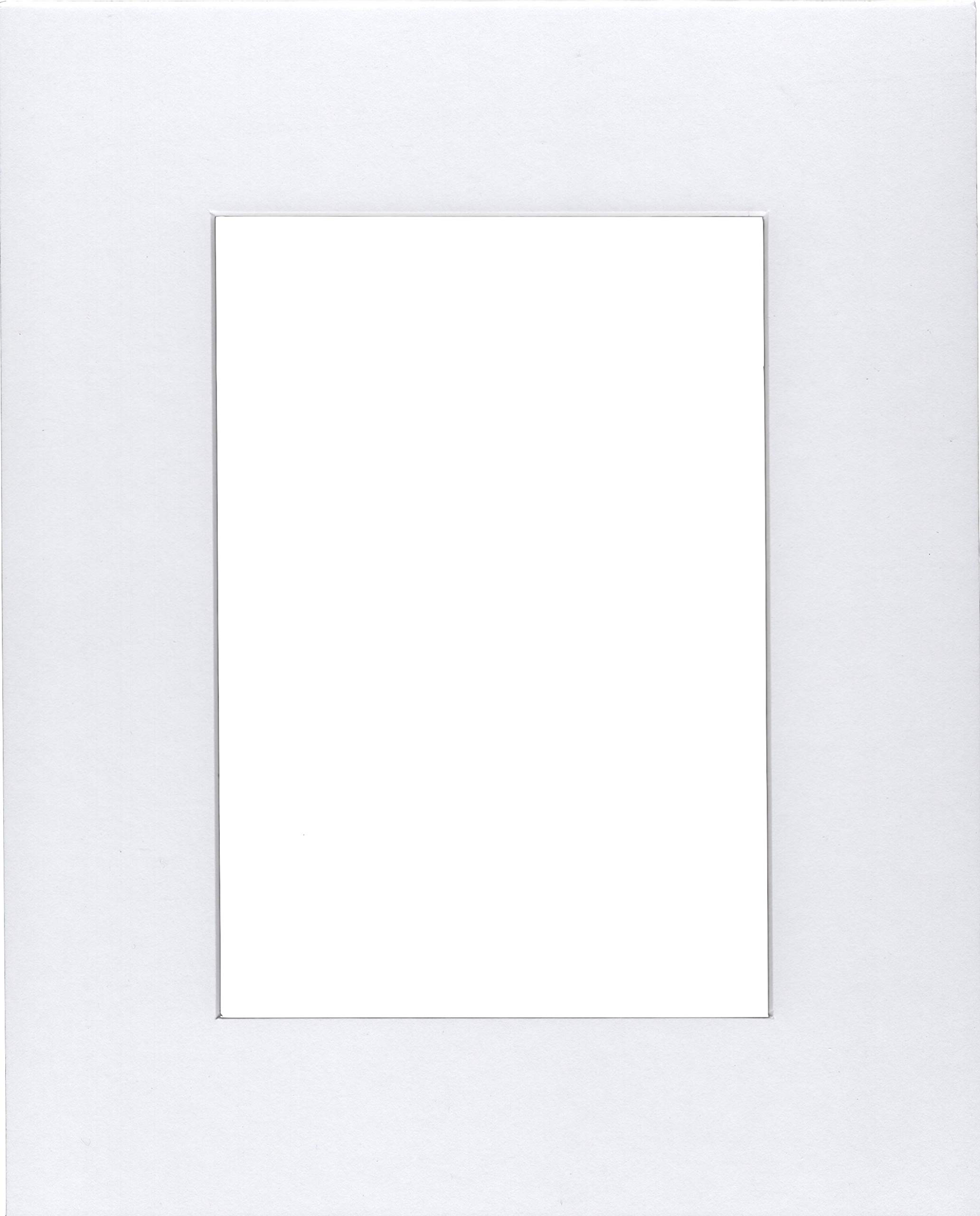 Pack of 5 18x24 White Mats with White Core Bevel Cut for 12x18 Pictures by bux1 picture matting