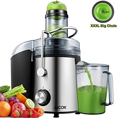 AICOK Juicer Extractor 1000W Centrifugal Juicer Machines Ultra Fast Extract Various Fruit and Vegetable Juice