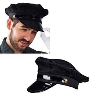 1fa5932efb460 Funny Party Hats Chauffeur Hat - Limo Driver Hat - Police Hat - Costume Hats