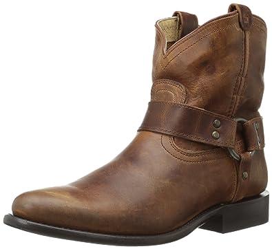 Amazon.com | FRYE Wo's Wyatt Harness Short Boot | Ankle & Bootie