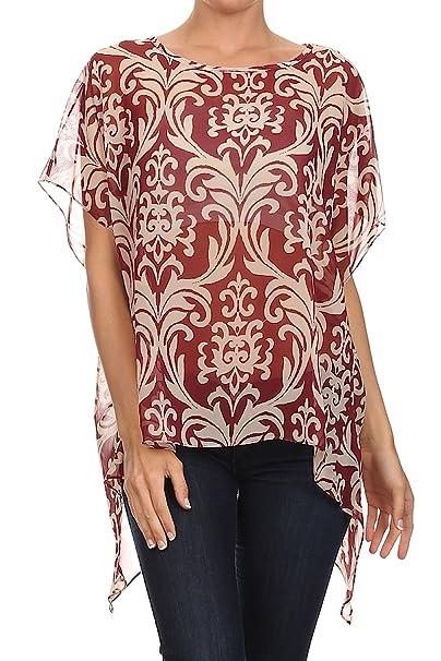 timeless design fabf8 6979e Kimono Bluse Abend-Bluse Tunika Shirt Überwurf Stola Chiffon ...