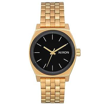 Nixon A1130222600 - Reloj para Mujer Medium Time Teller 31mm, Oro/Negro: Amazon.es: Relojes