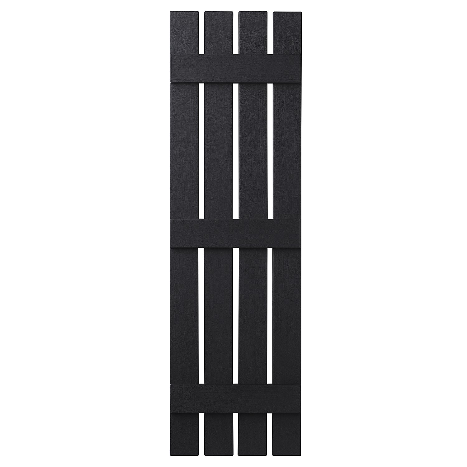 PlyGem Shutters and Accents VIN401659 33 4 Open Board and Batten Shutter, Black by PlyGem Shutters and Accents (Image #1)