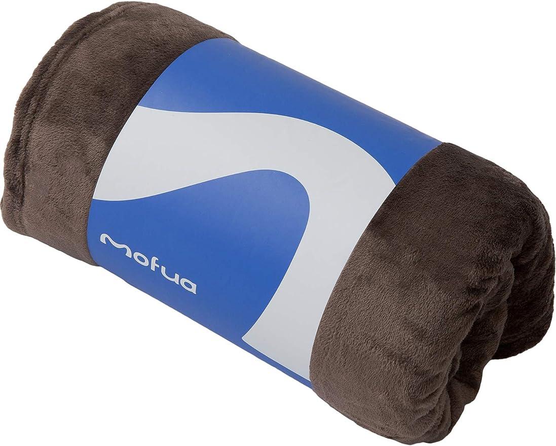 mofua (モフア) 毛布 シングル(140×200cm) ブラウン あったか 冬用 ブランケット プレミアムマイクロファイバー モフモフ 静電気防止 洗える エコテックス認証 50000106