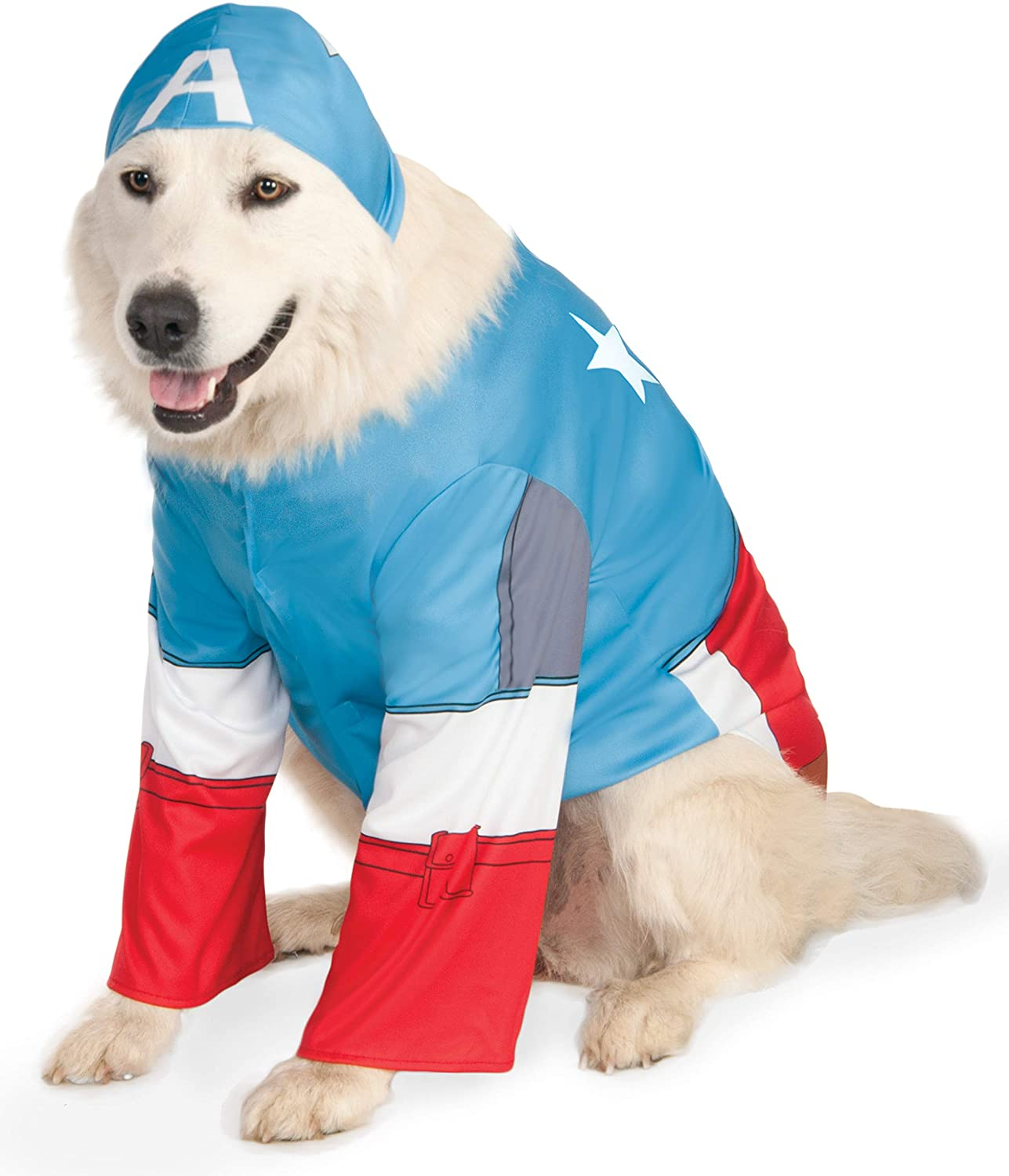 Amazon Com Rubie S Marvel Universe Captain America Pet Costume Small Pet Supplies From the classic comics to the latest movies, we have different types of captain marvel costumes for you. marvel universe captain america pet costume