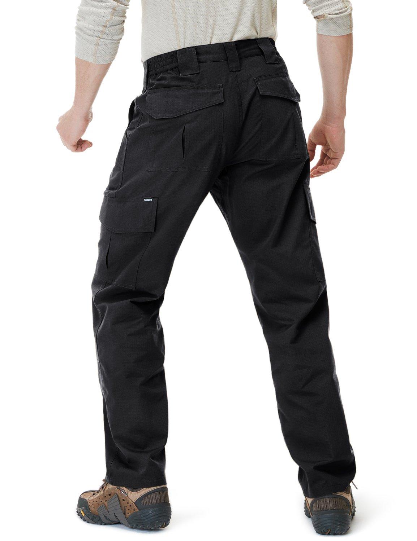 CQR CLSL CQ-TLP104-BLK_32W/32L Men's Tactical Pants Lightweight EDC Assault Cargo TLP104 by CQR (Image #2)