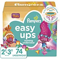 Pampers Easy Ups Training Pants Girls and Boys, 2T-3T (Size 4), 74 Count, Super Pack