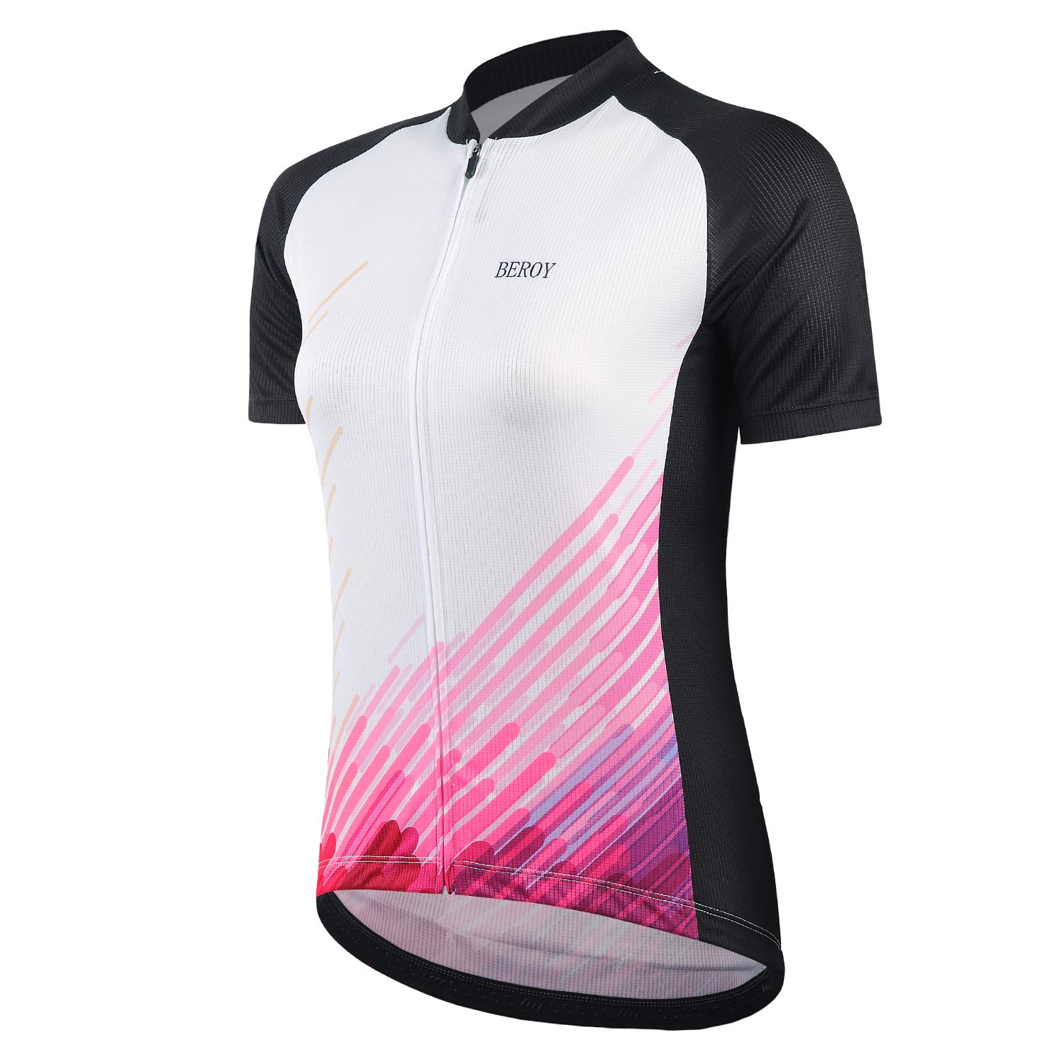 beroy Women Cycling Jersey Short Sleeve with Three Pockets,Ladies Bike Jerseys Tank Tops(S Red) by beroy