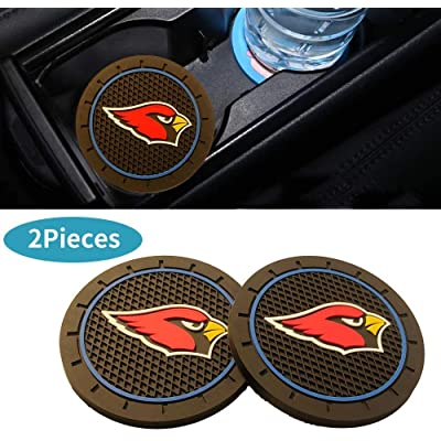 CAR FANS 2Pcs Durable Silicone Cup Holder mat for Arizona Cardinals,Auto Cup Holder Insert Coaster pad(Arizona Cardinals): Automotive