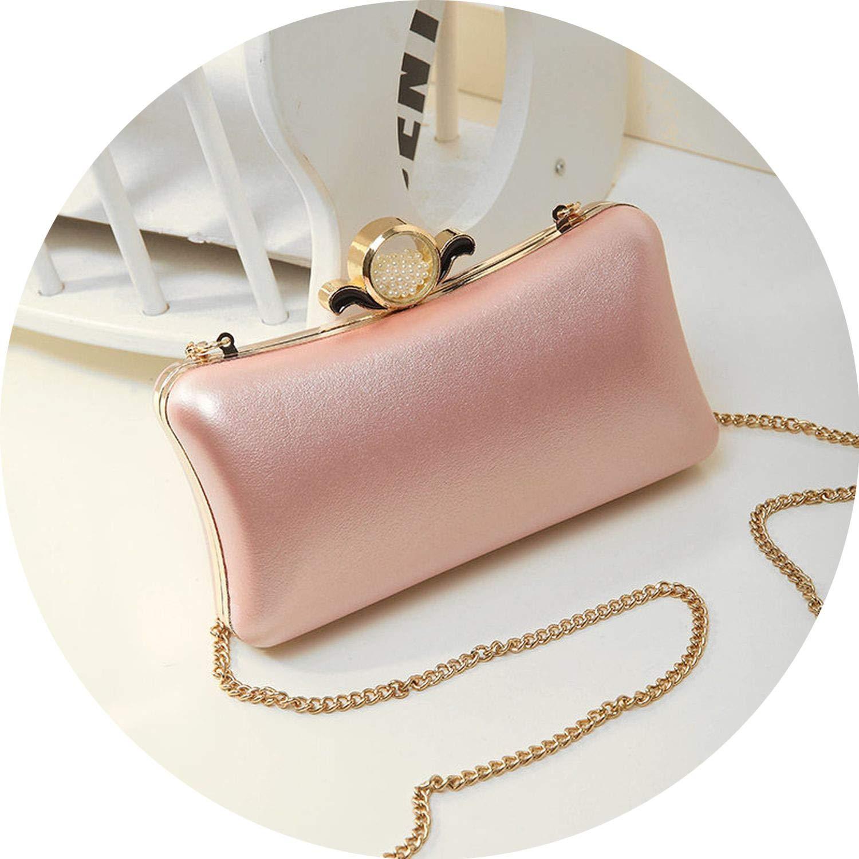 Box Evening Party Handbag Hard Purse Women Clutch Shoulder Bag NEW Chain Wallet