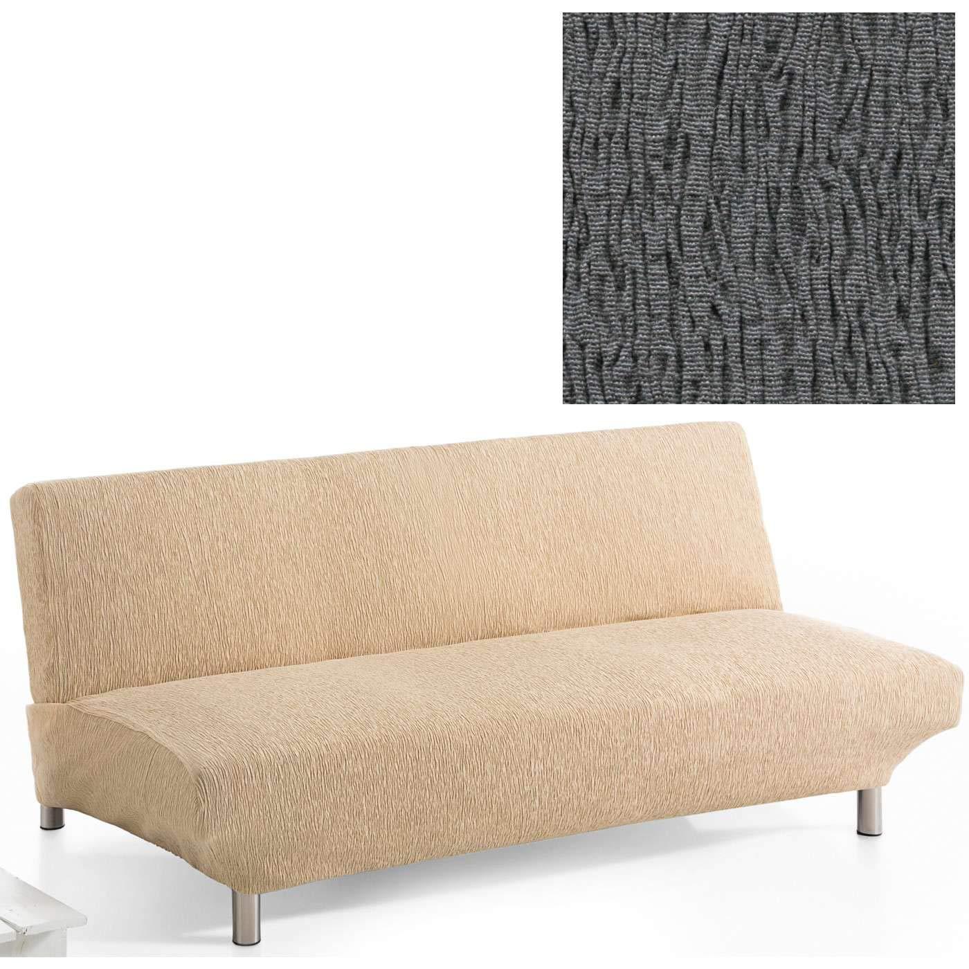 Jarrous Funda de Sofá Clic-Clac Modelo Arucas, Color Gris-10, Medida 3 Plazas – 180-230cm