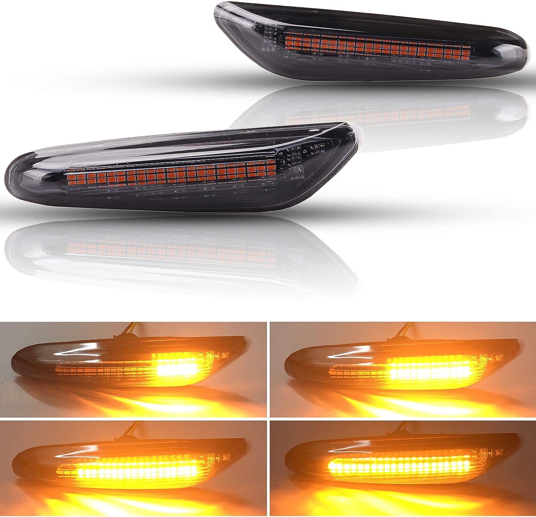 Versión mejorada] Kinstecks 2PCS LED Luz de señalización de flujo ...