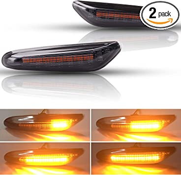 2x  LED Side Marker Lamp Amber Light Indicators For BMW E82 E87 E90 E91 E60 E61
