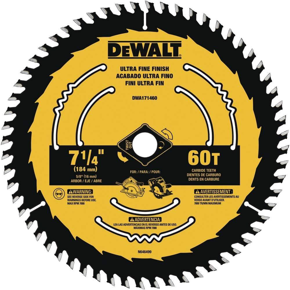 DEWALT 7-1/4-Inch 60-Tooth Circular Saw Blade