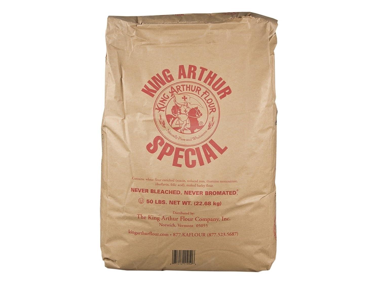 Amazon Com King Arthur Unbleached Bread White Flour 50 Pound 1 Each Flour And Meals Industrial Scientific