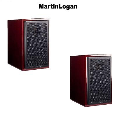 MartinLogan 1 Pair Motion 15 Gloss Black Cherrywood Bookshelf Loudspeaker Bundle