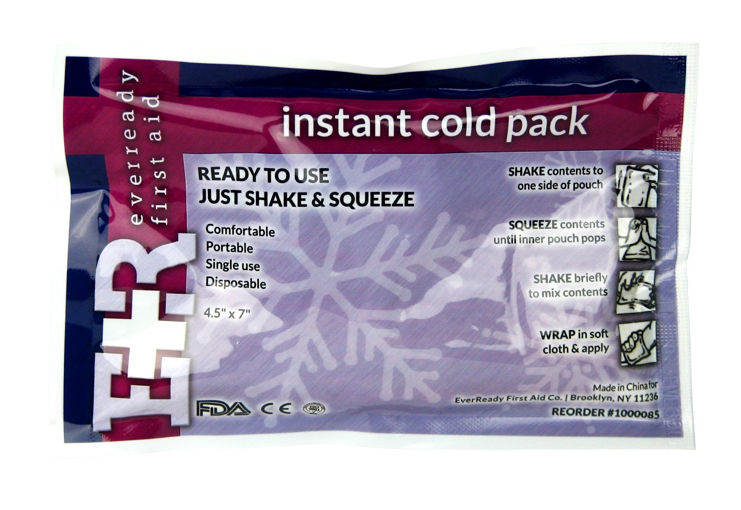 Ever Ready First Instant Cold Pack, 4.5x7, 125-count by Ever Ready First Aid