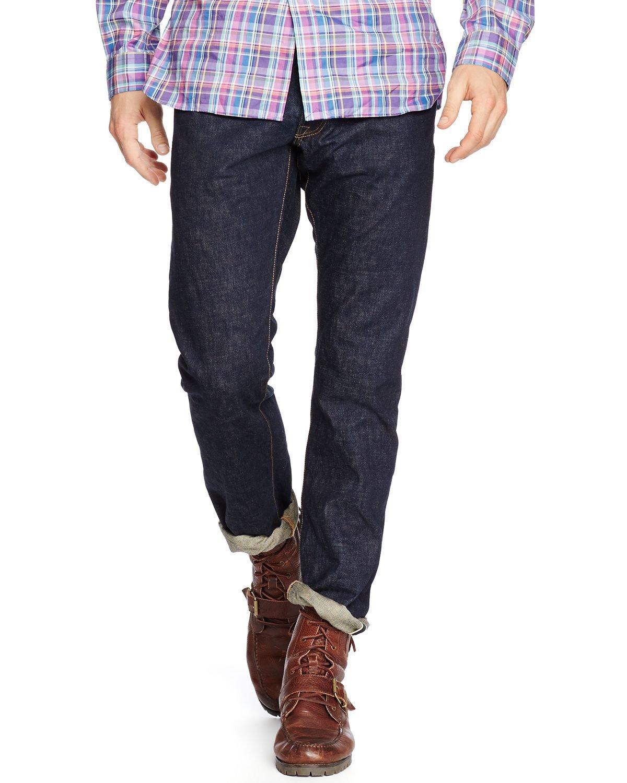 Polo Ralph Lauren Mens Varick Slim Fit Straight Leg Jeans Blue 31/30
