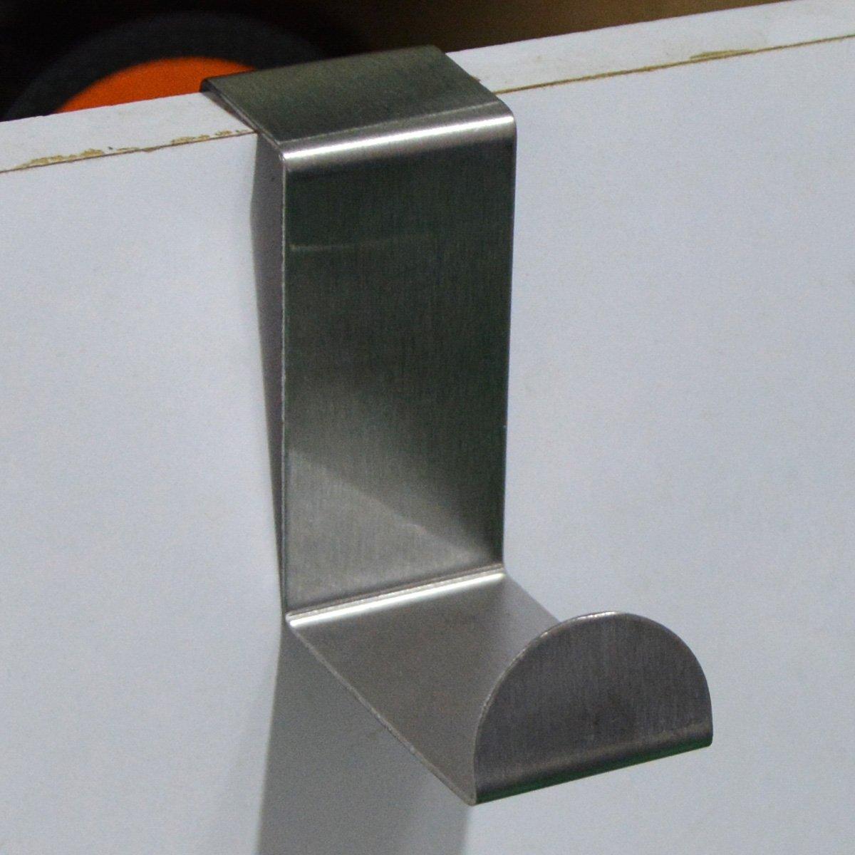 Saim Metal Door Hook Heavy Duty Z Hooks Stainless Steel Front Door Hooks for Shower Door Bedroom Laundry Room Kitchen and Office Laundry Pack of 12