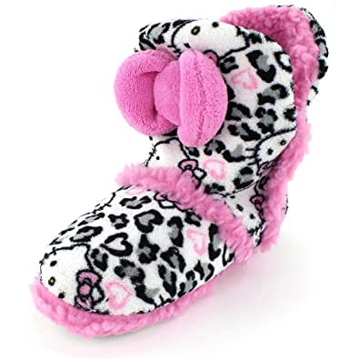 dd8996fe0 Amazon.com | Hello Kitty Womens White Boot Slippers (L 9/10 M US ...