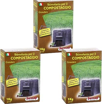 ESTIMULANTE INOLORO PARA COMPOST COMPOSTAJE BASURA Y ABSORBE OLORES 3 x 1KG